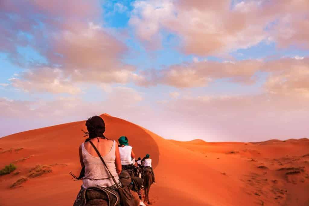 Horseback trek in the Sahara desert of Tunisia
