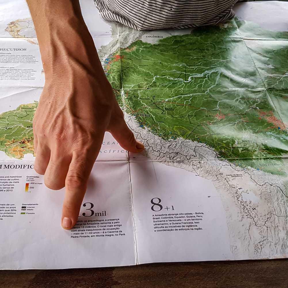 mapa de la amazonia