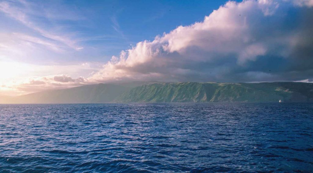 Azores from the ocean