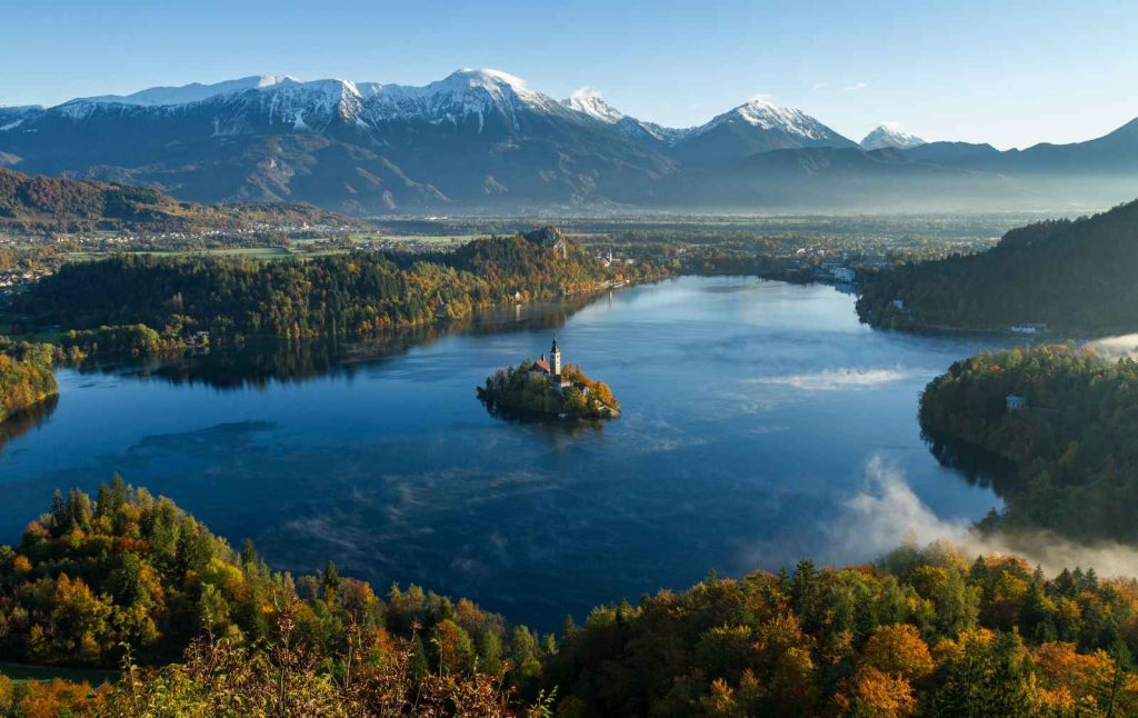 water line coast Slovenia