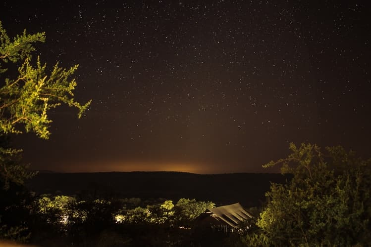 Starry night at bush camps in Zambia